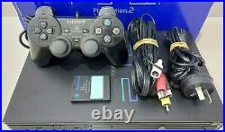 Sony PlayStation 2 PS2 Fat + Controller Memory Card Cables BOXED SCPH-30002