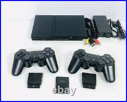 Sony PlayStation 2, PS2 Slim Console Bundle, 2 Controllers, 128mb Memory Card