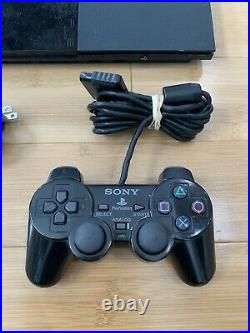 Sony PlayStation 2 PS2 Slim Console Bundle Controller Memory Card Ships Fast