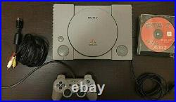 Sony PlayStation Classic Original with charger+Memory Card+1 controler+RARE