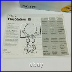 Sony PlayStation PS1 Dual Shock Console w Box SCPH-7501 Controller Game Mem Card