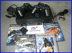 Sony Playstation 2 + 5 Spiele PS 2 + 2 Controller + Memory Card (X16)