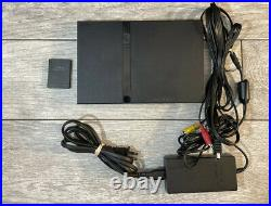Sony Playstation PS2 Slim BUNDLE TESTED, 2 Controller, 22 Games 128 Memory Card