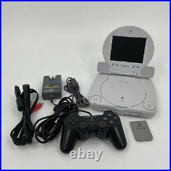 Sony Playstation PS One PS1 Console with LCD Screen with Cables, Controller & Card
