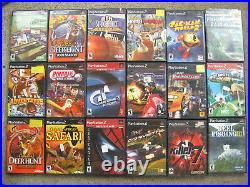 Sony Ps2 Playstation 2 Fat Console 2 Controllers 58 Games 8 Memory Cards Bundle