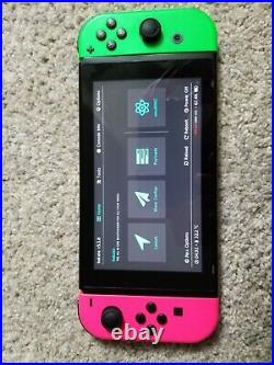 Unpatched V1 Moddable/Hackable Switch HAC-001 with Dock and Controllers + SD Card