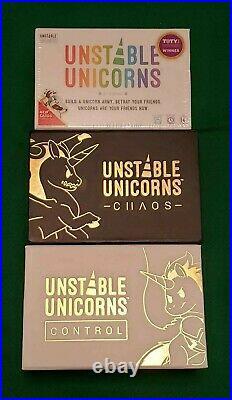 Unstable Unicorns Chaos & Control (2019) Kickstarter EXCLUSIVE TeeTurtle
