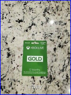 Xbox One X with original wireless controller, XBox Live Gold Card, and 7games