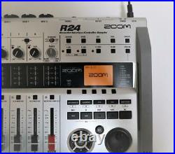Zoom R24 Recorder Interface Controller with adapter and SD card great Condition
